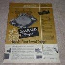 Garrard Triumph RC 80 Turntable Ad, 1955, Leak Amp,NICE