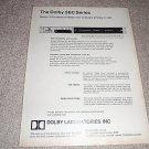 "Dolby Labs ""A"" Noise Reduction Unit Ad from 1971,RARE!"