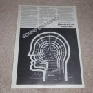 Omnisonix Imager 801-a Ad, 1981,Article, Rare 1 page