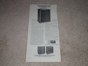 "Altec A7-500wII Magnificent Spkr Ad,1968, Info, 6""x11"""