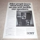 Sony SSU-2000,1250,1050 Speaker Ad from 1976