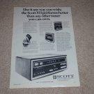 Scott 433 High-End Tuner Ad, 1971, Article, Rare Ad!