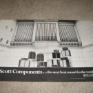 Scott Speakers/Amp Ads from 1972, 2 pages,pipe organ