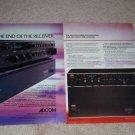 Adcom GFA-535,545 Amps Ad,GTP-500 Pre,4 pgs, Article