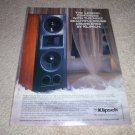 Klipsch EPIC Series Ad from 1994, beautiful! CF-3,5