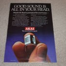 Akai GX Head Ad, 1979, Article, Open Reel, Cassette