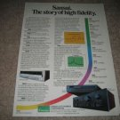 Sansui History of Company Ad from 1981,AU-D11,TU-S9