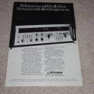Mitsubishi R20 Receiver Ad,specs,article,RARE! 1980