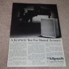 Klipsch Heresy II Speaker AD from 1985, Beautiful!