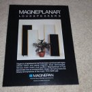 Magnepan Magneplanar Speaker Ad, 1988, Rare Ad!