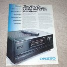 Onkyo Integra TX-SV909PRO Receiver Ad, 1992,Article