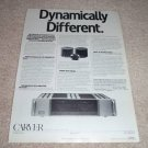 Carver M-500t Amplifier Ad from 1988,Specs, article