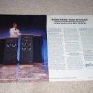 Polk SDA 1c, SDA 2b Speaker Ad, 2 pages, Article, Specs