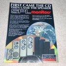 SPL Monitors Speaker Ad, 1987, Entire Line, Rare Ad