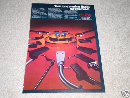 Ortofon M20FL Super,M20E Super Cartridge Ad, 1978