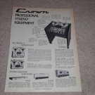 Crown Studio Ad,1972,CX822,711 Open Reel ,DC300 Amp,150