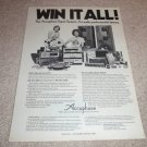Accuphase Ad from 1978, entire line, reel, speaker, amp