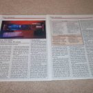 Teac ZD-5000 CD Player Review,2 pgs,1986,Full Test,RARE