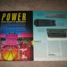 Power Article by Julian Hirsch from 1992,4 pages