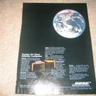 Bose 901 Vintage Ad from 1980 Globe Shot,RARE!