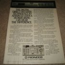 Pioneer A-90,F-90 Amp/ Tuner Ad from 1983,specs,POWER!