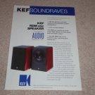 KEF RDM Speaker Ad, 1997, Article, rare Ad!
