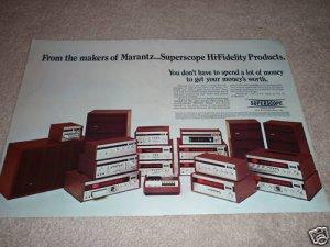 Marantz Super Scope Ad, 2 pgs, RARE! All items, spkrs