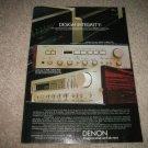 Denon DRA-400,PMA-750 Amp Ad 1982