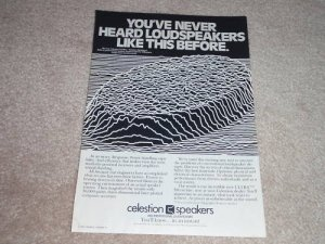 Celestion Speaker Ad, 1981,1 pg, Ultra Ditton Line