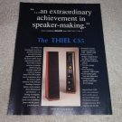 Thiel CS5 Speaker Ad,1990, Beautiful, specs, details