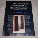 Thiel CS5 Speaker Ad,1990, Beautiful, specs, details
