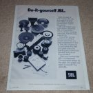 JBL Raw Drivers Ad,1977, Woofer, Horn, Crossover, RARE!