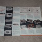 Fisher Ad, 4 pgs, Full SPecs, All 1956 Amps,Pre,Tuners