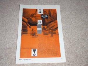 Rare JBL Ad, 1957, Horn, Woofer, Article, Mint!