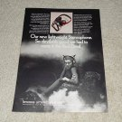Koss Red Devil Headphone Ad, 1971, Rare Ad, Article!