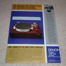 Denon DP-60l Turntable Ad, 1982, Article,History, 1 pag