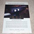 Acurus ACT I Preamp Ad, 1995, Article, Rare Ad!