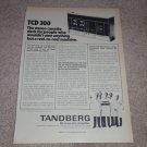 Tandberg TCD 300 Cassette Ad,1973, Article,Specs, RARE!