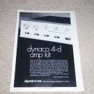 Dynaco QUAD SCA-80Q Amplifier Ad, 1972,Article,Specs