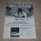 Altec 710A Receiver Ad, 1972, Specs, Article