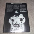 Pioneer RT-1020l AD ,Bobby Colomby in Ad, Reel 1973