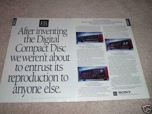 Sony ES Ad,2 pages,GX10es Rec,WR11es Tape,707esd CD