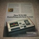 Tandberg TCD-310 Tape Deck Ad from 1974,mint!
