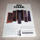 Martin Logan entire line Ad from 1994, beautiful!