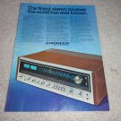 Pioneer SX-1010 Receiver Ad from 1974, color, RARE!