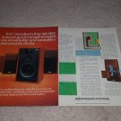 BIC Speaker Ad, 1981, 2 pgs, Article,Venturi II Series