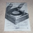 Empire 598II Turntable Ad, 1972, Reviews, 1 page, Rare!