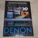 Denon DR-M44 Cassette Ad, 1984, Article, Info, 1 page