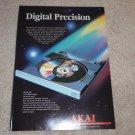 Akai CD-A70 Ad, 1986, Article, Beautiful Ad