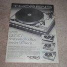 Thorens TD-125 AB Mk II,160c,165c Turntable Ad,1976